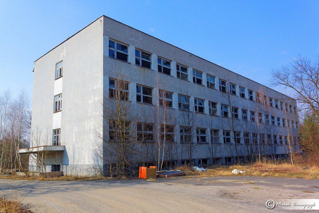 Opuszczona Radziecka szkoła w Trzebieniu